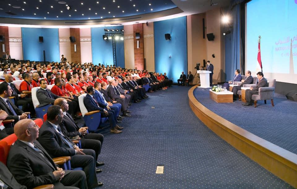"""خلال مؤتمر الشباب  .. """"السيسي"""" يكرم ابطال دورة الألعاب الافريقية ٢٠١٩"""