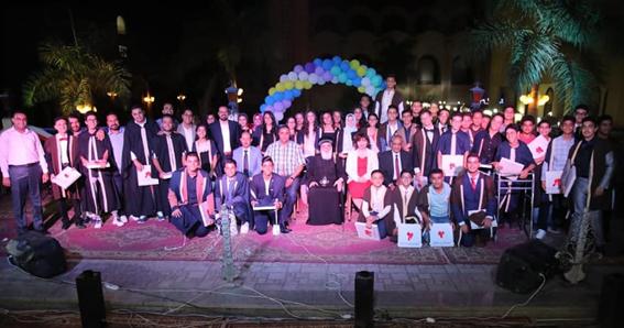 """""""الأنبا بفنوتيوس يشهد حفل تخريج دفعة جديدة من مدارس """"العهد الجديد لغات بسمالوط"""