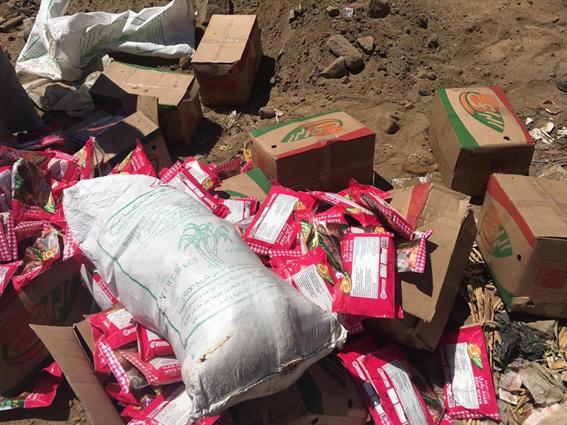 ضبط وإعدام 420 كيلو مواد غذائية غير صالحة في أسوان
