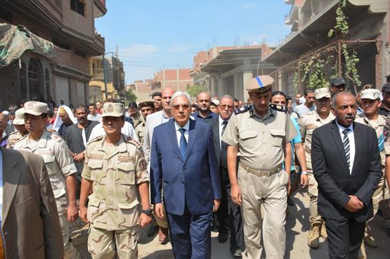 جنازة عسكرية للشهيد أحمد محمد أيوب بميت غمر بـ الدقهلية