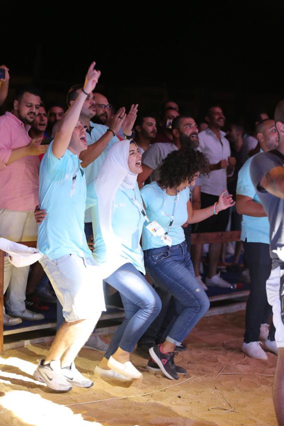 """بالصور .. نسمة محجوب و"""" Nour project """" يتألقون في العين السخنة"""