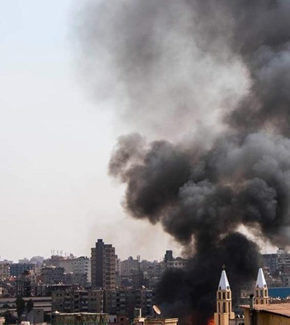 اندلاع حريق داخل كنيسة مار جرجس بالمنصورة