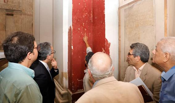 جولة تفقدية لوزير الآثار و لجنة تقييم مشروع تطوير المتحف المصري بالتحرير