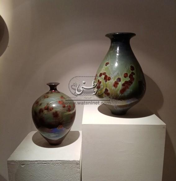 """تأثيرات الدخان في ٧٠ عملًا خزفيًا للفنانة سلوى رشدي بـ""""الجزيرة للفنون"""""""