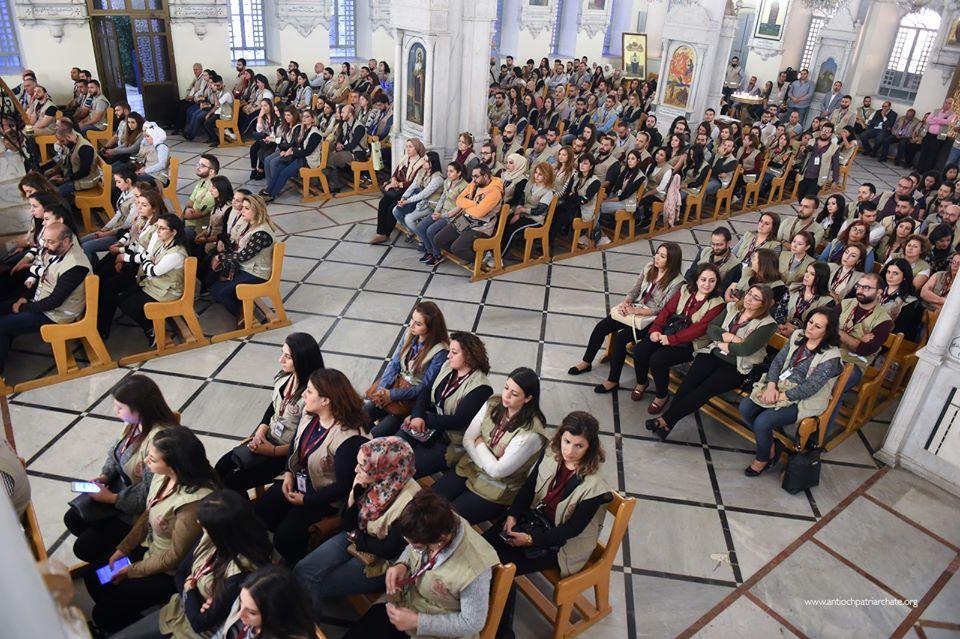"""""""رسالة سلام وفرح"""" يُقدمها متطوعي دائرة العلاقات المسكونية بسوريا"""
