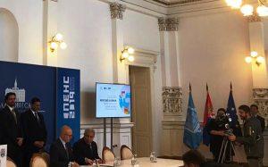 محافظ أسوان يشهد مؤتمر بمدينة صربية ويوقع إتفاقية تؤامة مع مدينة أوزيتسا