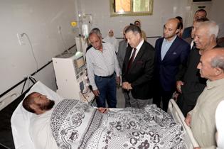 """افتتاح وحدة الغسيل الكلوي بقرية """"قمبش"""" في بني سويف"""