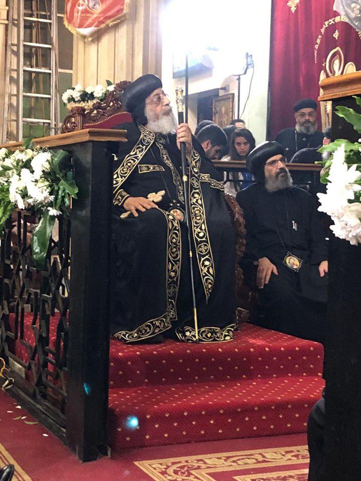 البابا تواضروس يشارك شعب شبرا الاحتفال باليوبيل الذهبي لكنيسة الشهيد جوارجيوس