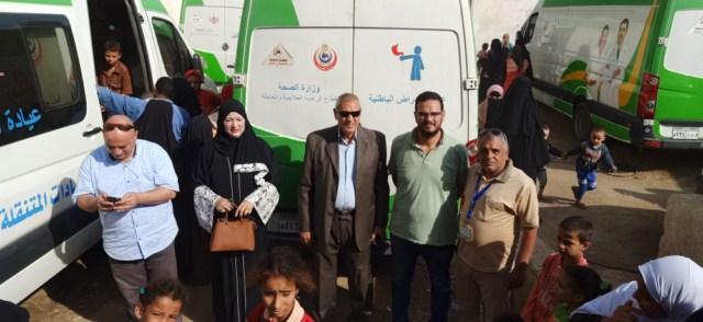 علاج مجاني لـ1622  مريض بقرية واحدة في المنيا