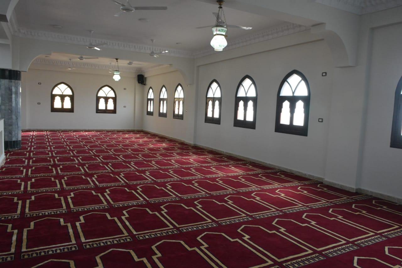 """بالصور.. محافظ البحيرة يفتتح مسجد """"أم المؤمنين"""" بتكلفة 6 مليون جنيه بالجهود الذاتية"""