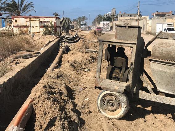 الإنتهاء من تركيب خط طرد الصرف الصحي إدكو