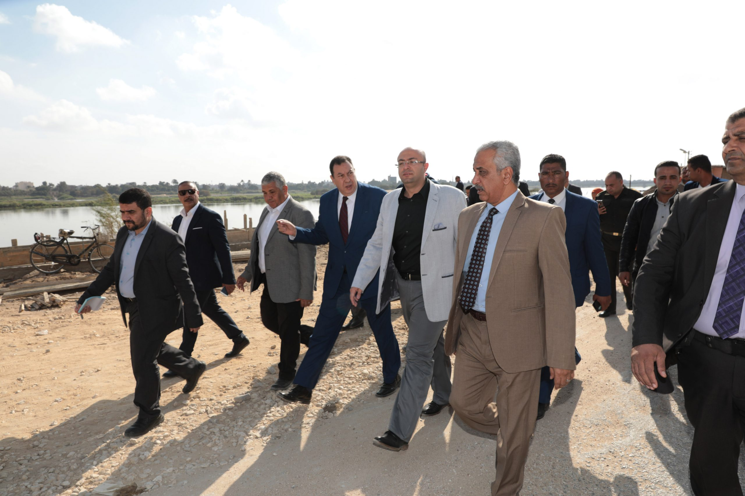 محافظ بني سويف تنفيذ المشروع الرئاسي ممشى أهل مصر بالمحافظة