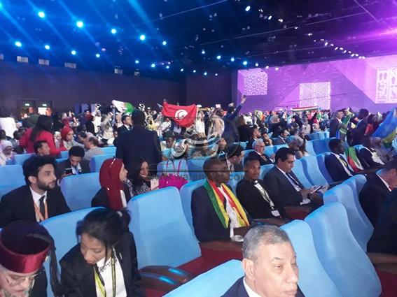 شباب العالم في انتظار انطلاق  الحفل الافتتاحي لمنتدى الشباب في نسخته الثالثة