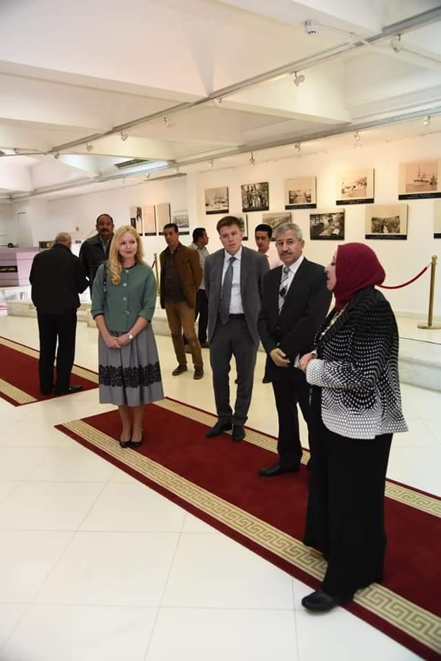 القائمة بأعمال السفارة الروسية بالقاهرة تزور متحف النصر الحديث