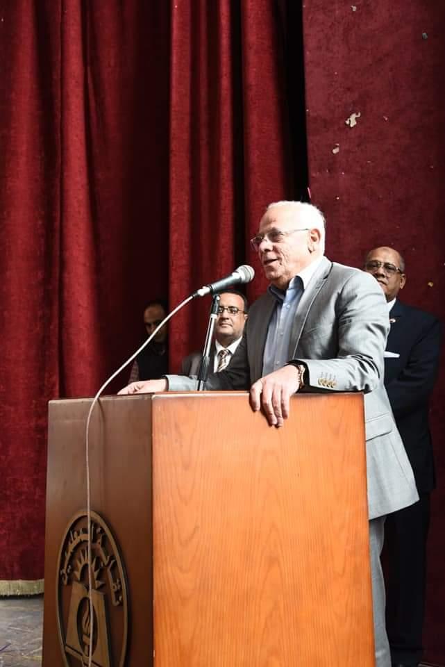 لقاء يجمع محافظ بورسعيد بمديرى المدارس والإدارات التعليمية  بالمحافظة