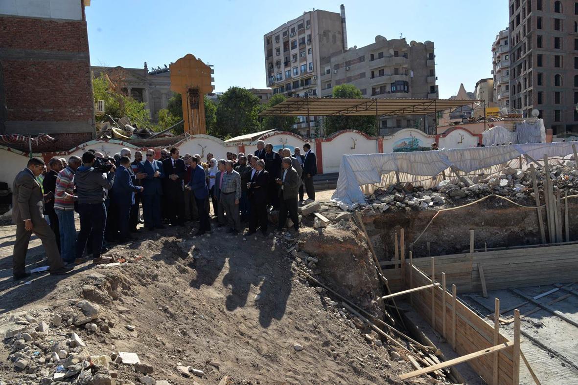 أسيوط : وضع حجر أساس المبنى الاجتماعي لنادي الزراعيين في حي شرق