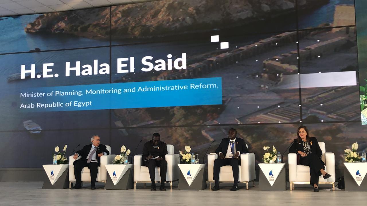 """وزيرة التخطيط تشارك في منتدى السلام بأسوان بجلسة بعنوان """"إسكات البنادق في أفريقيا"""""""