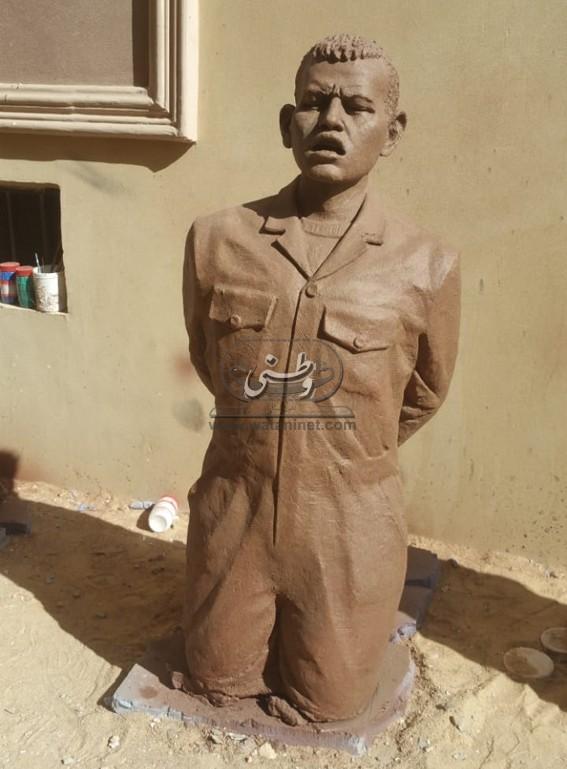 """بالصور.. """"الجاولي"""" يزيح الستار عن مجسم شهداء ليبيا في ذكراهم"""