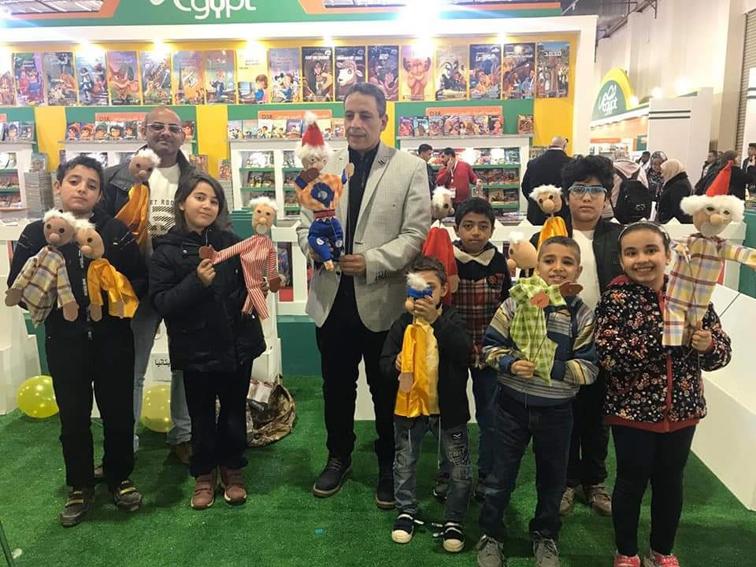"""حضور اعداد كثيرة للأطفال لفقرات """"القومي لثقافة الطفل"""" بمعرض الكتاب"""