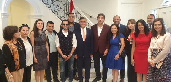 سفراء مصر بأستراليا يقيمون حفلات تكريم على شرف الفنان أحمد حلمى والدكتور خالد منتصر