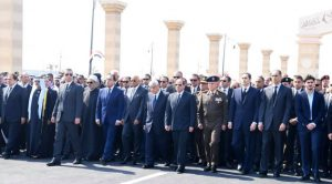 الرئيس السيسي يتقدم الجنازة العسكرية للرئيس الأسبق حسني مبارك