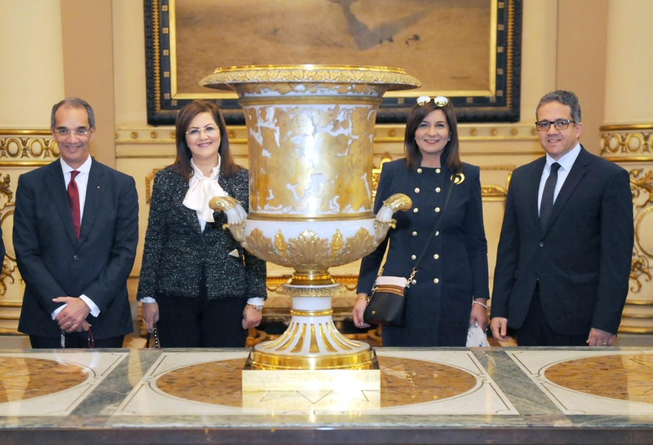 سفراء ٤٠ دولة أجنبية في مصر يزورون قصر عابدين