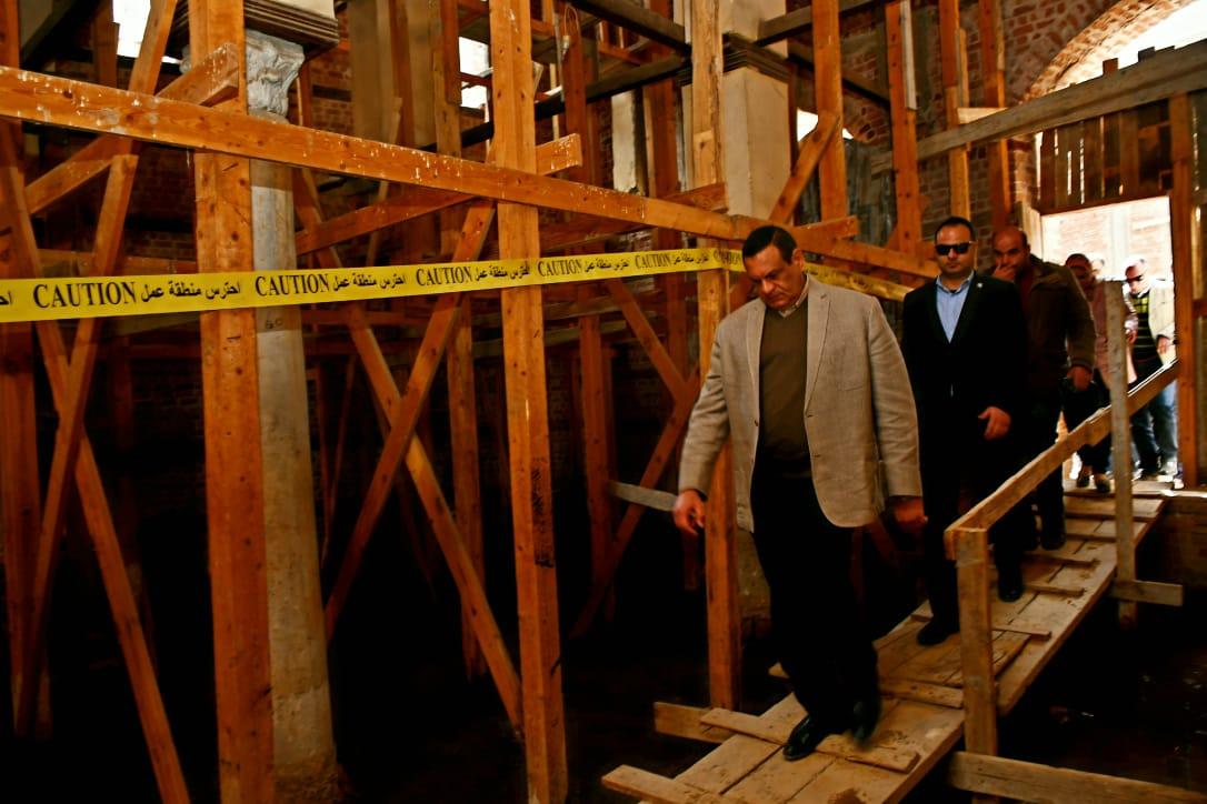محافظ البحيرة يتفقد أعمال ترميم مسجد المحلى الأثري برشيد