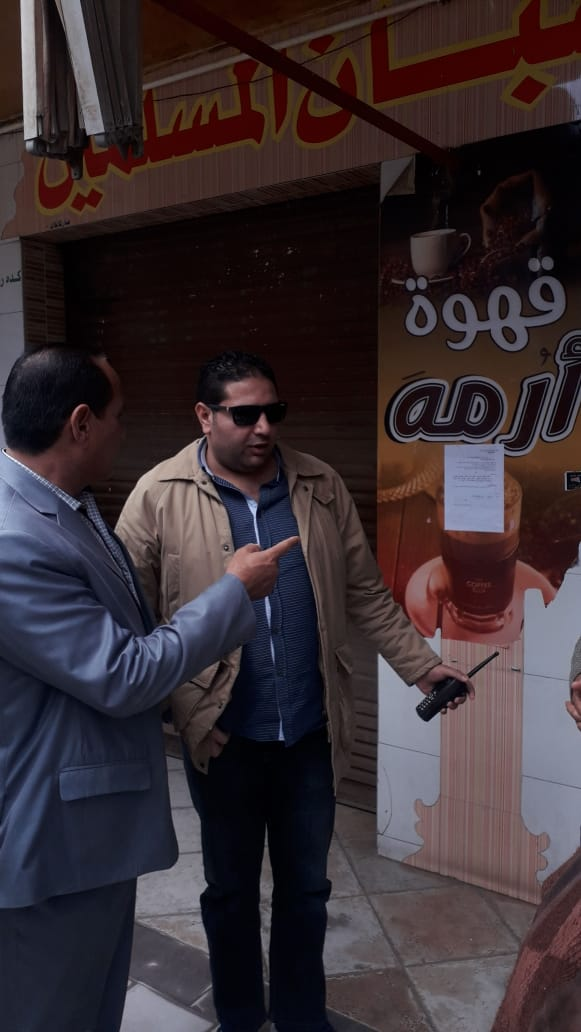 غلق مقهى نادي الشبان المسلمين في بني سويف