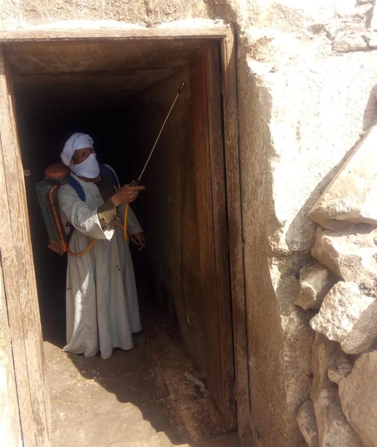 بدء إجراءات تعقيم وتطهير المتاحف والمواقع الأثرية في شمال سيناء والدلتا ووجه بحري