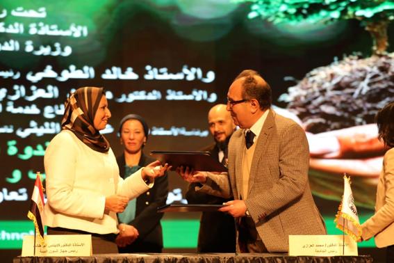 وزيرة البيئة تشهد توقيع بروتوكول لرفع وعى الطلاب لدعم حماية الموارد الطبيعية