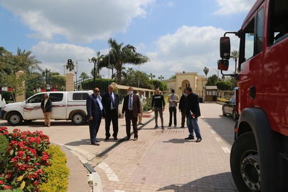 محافظ كفر الشيخ يتابع تطهير وتعقيم ديوان عام المحافظة