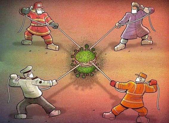 صور معبرة عن الصراع مع فيروس الكورونا المستجد