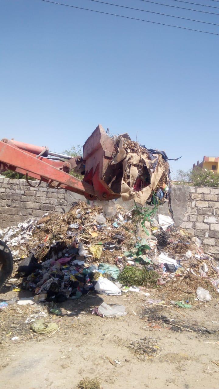 رفع 5845 طن قمامة في 31 حملة مكبرة للنظافة ورفع الإشغالات بالمراكز بالفيوم
