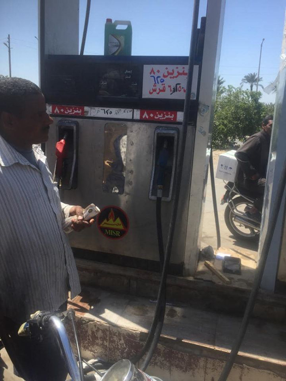 بالصور:حملات لمتابعة تطبيق أسعار الوقود الجديدة بالفيوم