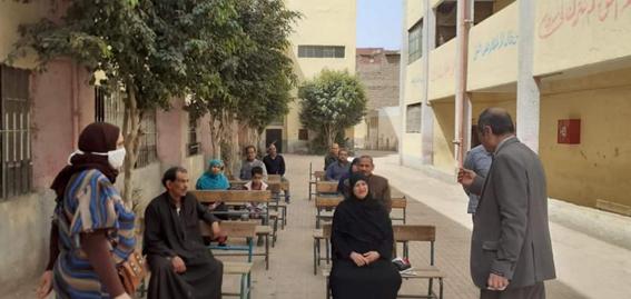 مدارس محافظة الجيزة تحتضن أرباب المعاشات