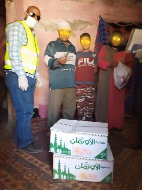 اورمان كفرالشيخ توزع مساعدات مالية وعينية علي ٢٥ أسرة متضررة بمركز الرياض
