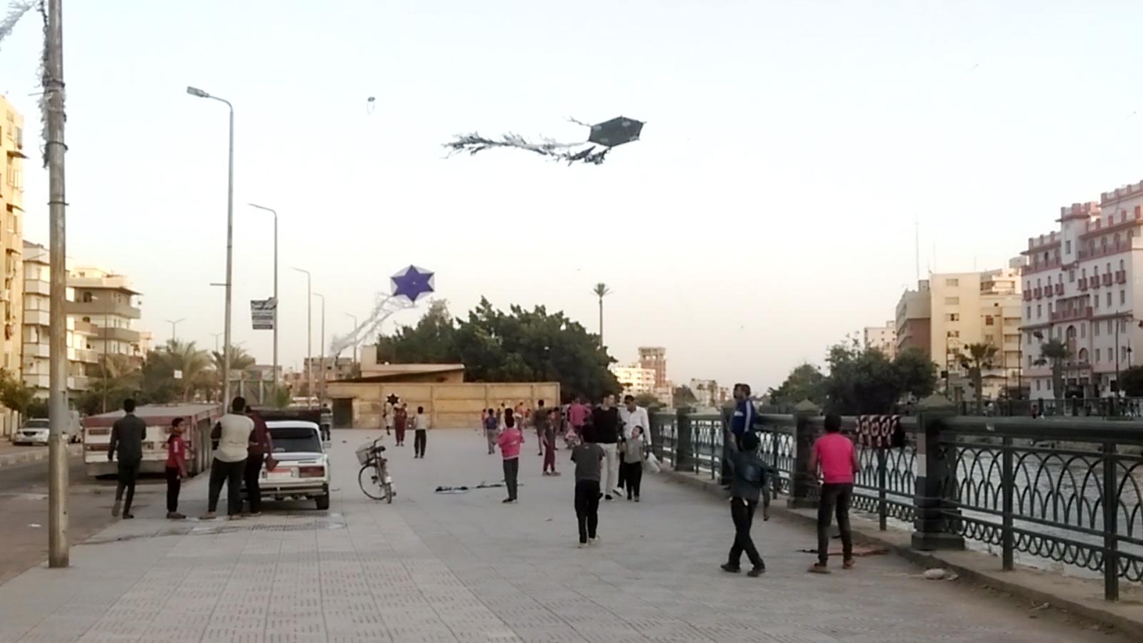 الطائرات الورقية.. متعة الكبار والصغار في زمن الكورونا بالبحيرة