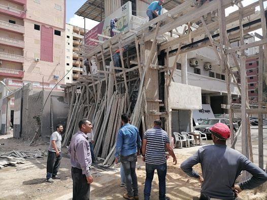 حملات للتصدى لظاهرة البناء المخالف بحى العامرية والمنتزة