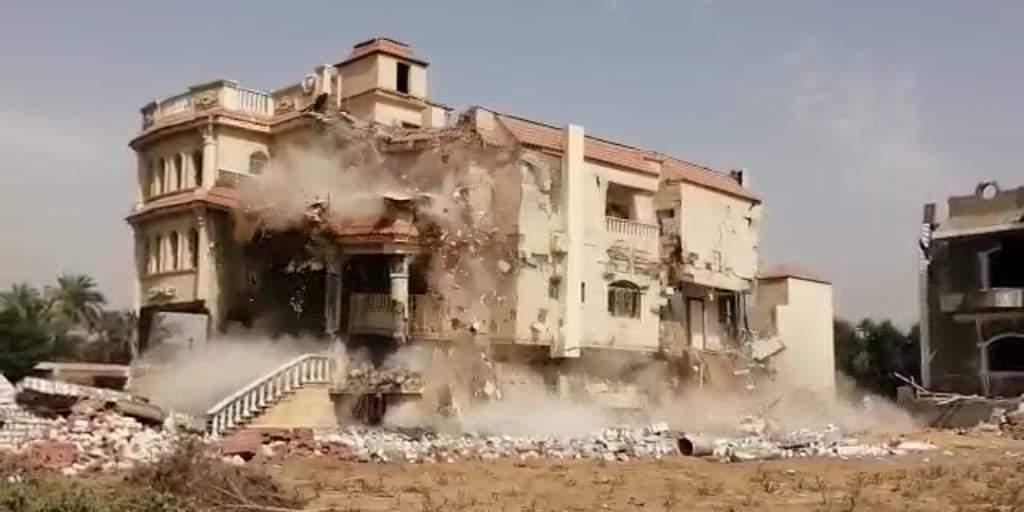 محافظ الجيزة : إزالة قصر وفيلا تحت الإنشاء بالهرم